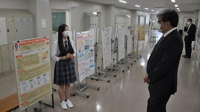 萩生田光一文部科学大臣が附属国際中等教育学校を視察されました