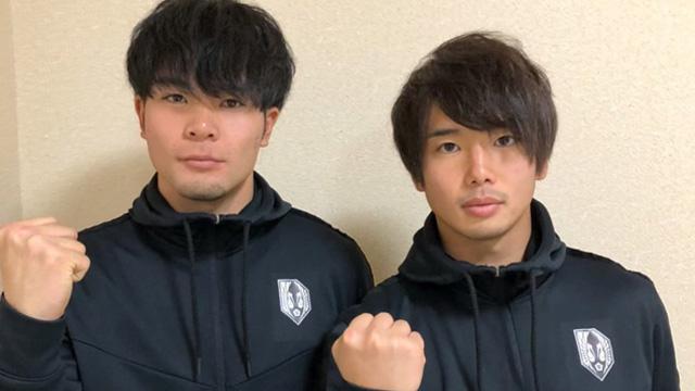 本学男子蹴球部の色摩雄貴さん、原山海里さんがJ3のいわてグルージャ盛岡へ加入