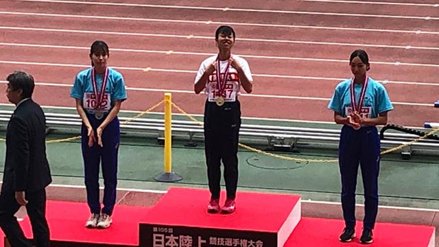 岩佐茉結子さんがU20日本陸上競技選手権で優勝しました