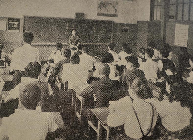 北多摩郡小金井第2中学校での教育実習風景(昭和33年)