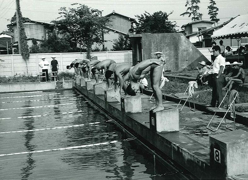 東京地区国公立大会水泳競技会(昭和43年:旧プール)